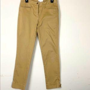Isaac Mizrahi Khaki Straight leg pants